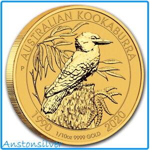 2020 Australia 1/10 oz Gold Kookaburra - 1st Release!