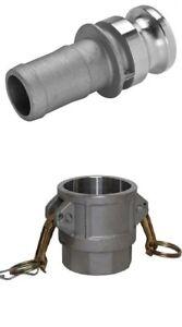 Camlock 2 inch BSP Set | Type D E | Aluminium | 50mm | Fire Pump hose