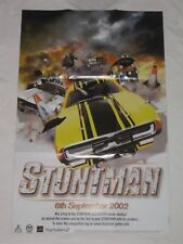 Stuntman Promotional Poster - Sony PlayStation 2 - PS2 - Like New