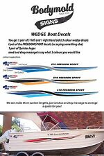 "Quintrex Freedom Boat Decals and Graphics ""Wedge Kit"" SPECIAL 3200mm long"