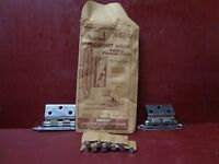 2 HINGES 1 PACK 1950s NOS AMEROCK CHROME CABINET CORRECT ORIG SCREWS E7645