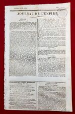 Saragosse Guerre d'Espagne en 1810 Belchite Tortose Journal Empire Napoléon