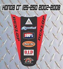 HONDA CR 125-250 POSTERIORE PARAFANGO DECALCOMANIE GRAFICA 2002-ON
