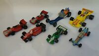 Vintage Diecast Matchbox Dinky Yatming Racing Car - set of 7
