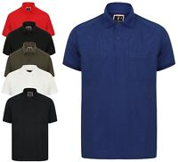 Polo Shirt Plain T Shirt Mens Golf Pique M-XXL New Pocket Summer Cool Collar