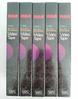 RCA T-120 Hi-Fi Blank VHS 6 Hour Video Tapes Lot of 5 New Sealed Free Shipping!