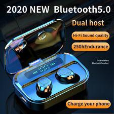Bluetooth 5.0 Wireless Headphones TWS Earphones Earbuds Powerbank Dual Host