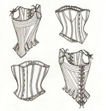 BONED STAYS or CORSETS Renfaire Steampunk LARP Sz 18-22 UNCUT Sewing Pattern