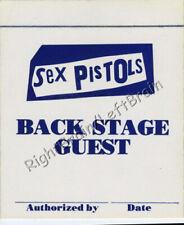 Sex Pistols 1978 U.S. Tour Backstage Pass