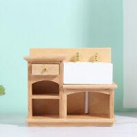 1:12 Wooden Dollhouse  Furniture Basin Sink Cupboard Cupboard Cabine YM6K