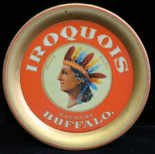 Ca 1900 Iroquois Brewery Tip Tray with Indian Head from Buffalo, New York