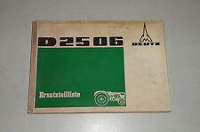 Teilekatalog / Ersatzteilliste Deutz Diesel Schlepper D2506 - Stand 02/1968