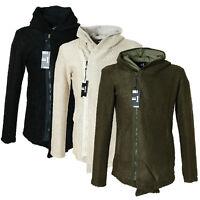 Eksi1 | Warme Herren Strick-Jacke mit Kapuze | Slim Fit |Hoodie | in 3-Farben