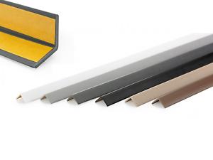 PVC Winkelprofil 40x40 Selbstklebend Kunststoff Gummi Kantenschutz 70-200 Quest