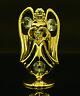 SWAROVSKI CRYSTAL ELEMENT APRIL BIRTHSTONE DIAMOND ANGEL 24K GOLD PLATED