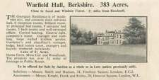1936 Warfield Hall Berkshire 383 Acres For Sale