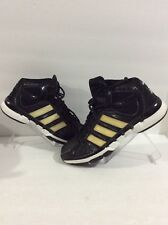 ADIDAS Pro Model 0 Black Gold White Basketball Sneakers Sz 9.5 A53