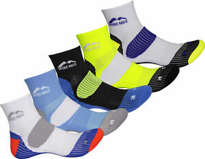 More Mile London 5 Pack Mens Cushioned Running Socks Padded Sports Ankle Sock