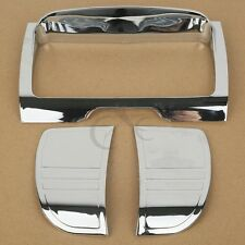 ABS Tri Line Stereo Trim For Harley Touring Road King FLHR Trike Glide 14 Chrome