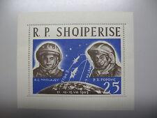 ALBANIE, Ruimtevaart, 2 blokjes, 1962/3, postfris/MNH TOP/ZELDEN