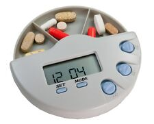 Medi-Mate Pill Organizer Alarm Timer w/ Slide-out 3 Compartment Medication Tray