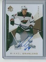 2018-19 SP Authentic Limited Autographs #76 Mikael Granlund Hard signed