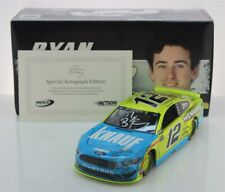 Ryan Blaney Autographed 2019 Knauf Insulation 1:24 Liquid Color Nascar Diecast
