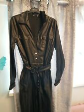 Leather Look Jumpsuit worn 2 times fantastic condition size 12