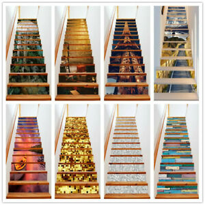 3D Stair Riser Staircase Wall Door Sticker Mural Scenery Home Decal Wallpaper