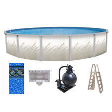 "15' x 52"" Whispering Springs Above Ground Pool w/ Unibead Liner Ladder & Filter"