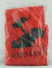 Golden Gate Fields CA Ladbroke Racing 1993 Vtg Rain Slicker Red PVC Zip  NEW