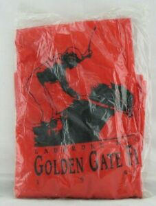 Golden Gate Fields CA Ladbroke Racing 1993 Vtg Rain Slicker Red PVC Zip  NEW