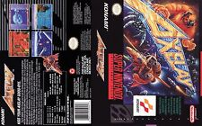 - Axelay SNES Box Art Case Insert Cover Replacement Only