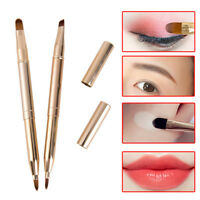 Double headed retractable lip brush eye liner eye shadow Eyebrow brush