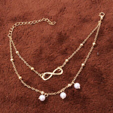 Summer Jewelry Pearl and Anchor Charm Anklets bracelet For Women Multi-Styles