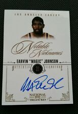 MAGIC JOHNSON 2010-11 PLAYOFF NATIONAL TREASURES NOTABLE NICKNAMES AUTO #1/10 SP
