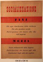 """RSI """"Socializzazione Fini...Mezzi..."""" volantino di propaganda Rep. Soc. Italiana"""