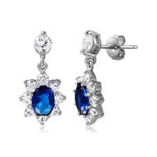 Plata de Ley Colgante Azul&Transparente Piedras de CIRCONITA dormilonas