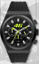 VR46 Uhr, Armbanduhr, Chrono, Valentino Rossi - 46 in Mattschwarz Watch Orologio