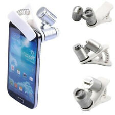 Phone Clip 60X Pocket Microscope Jewelry Magnifier Loupe Glass LED Light cell