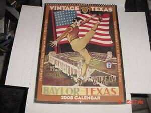 COLLEGE Football Game Program Art 1920s-1960s 2008 Calendar LONGHORNS UT AUSTIN