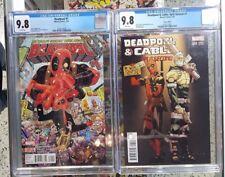 Set of 2 Deadpool #1 (2016) CGC 9.8 + Deadpool Cable Split Second #1 Var CGC 9.8