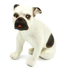 Vintage Victorian Bulldog Pipe Smoker Porcelain Old English Bully Dog Figurine