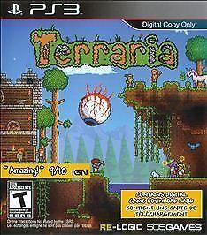 Terraria (Sony PlayStation 3, 2014) Digital Copy (No Disc) PS3