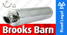 EXC101EM GSX1250 F 10> Alloy Round Slip-On Viper Exhaust Can E-Mark