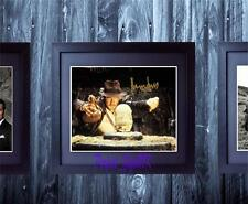 Harrison Ford Indiana Jones SIGNED AUTOGRAPHED FRAMED 10x8 REPRO PHOTO PRINT