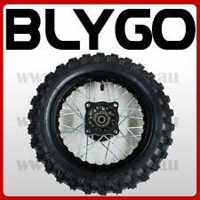 "BLACK 2.50- 10"" Inch Front Wheel Rim + Knobby Tyre Tire PIT PRO Trail Dirt Bike"