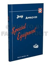 Willys Jeep Truck Special Equipment Book 1960 1961 1962 Pickup and Station Wagon