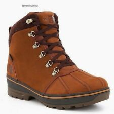 The NORTH FACE men's BALLARD DUCK BOOTS Waterproof Insulated Leather BROWN 9 M