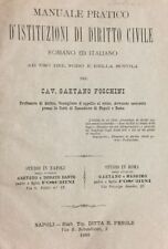 FOSCHINI GAETANO. Manuale pratico d'istituzioni di diritto civile romano
